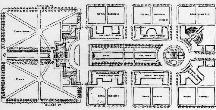 Fresno Civic Center plan